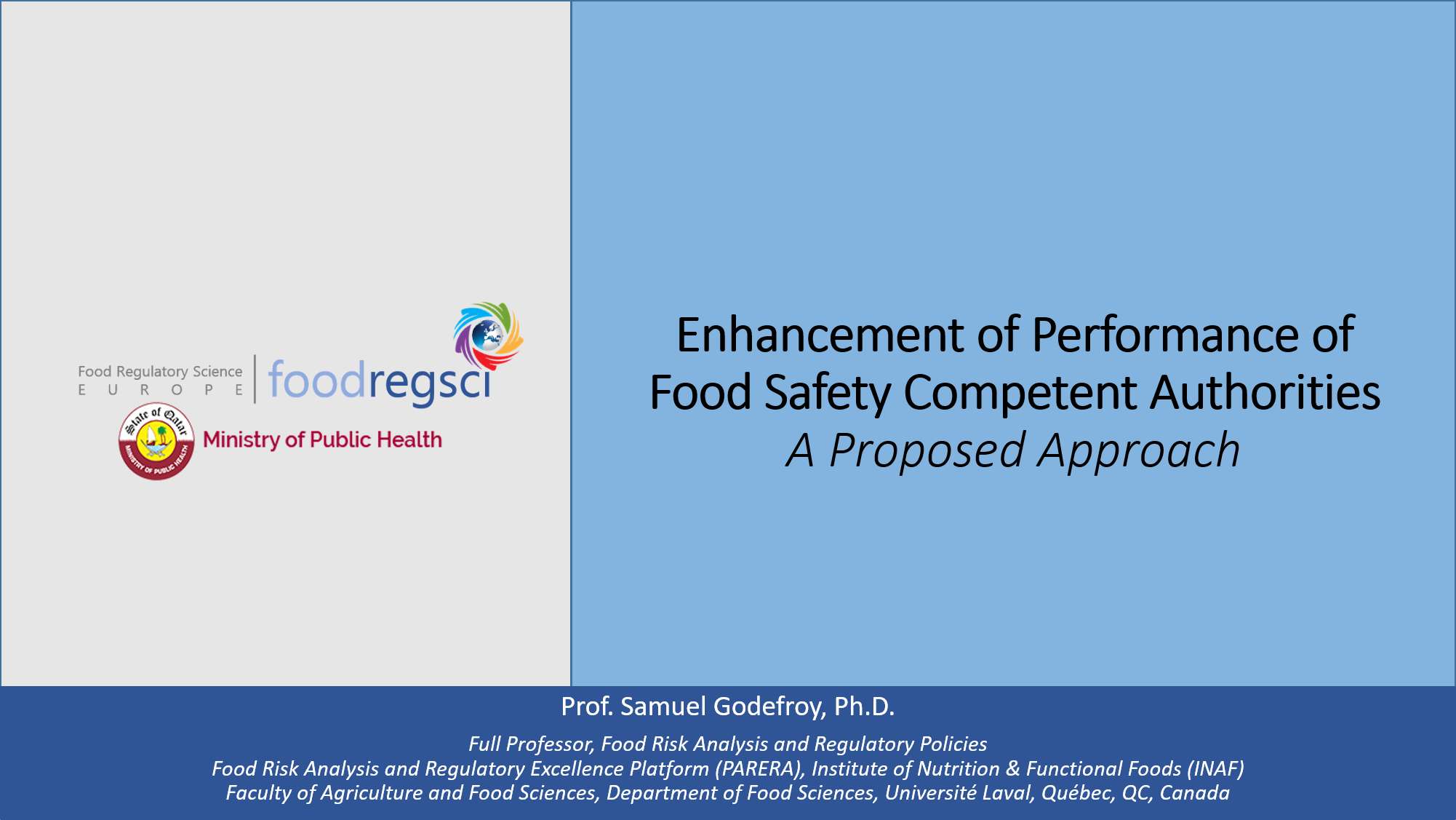 Qatar | Enhancement of Performance of Food Safety Competent Authorities: A Proposed Approach